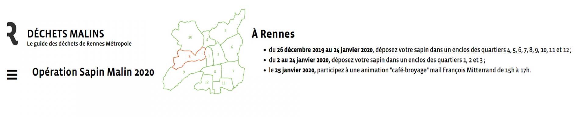 Rennes: Opération Sapins 2020